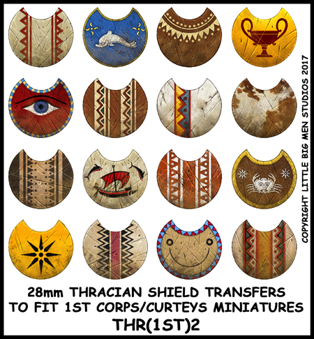 small thracian shield transfers