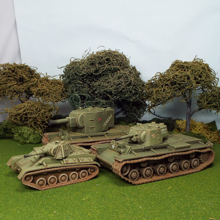 28mm soviet kv1 kv2 and t70 tanks