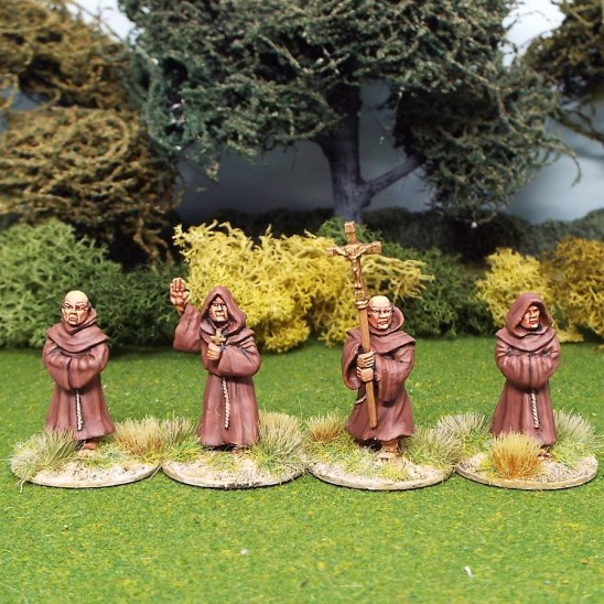 28mm Medieval friars monks