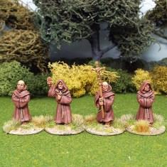 28mm Medieval friars monks