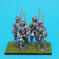 28mm English Civil war Musketeers Marching Wearing Montero Cap.