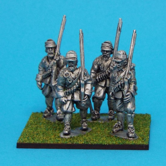 28mm English Civil war Musketeers Marching Wearing Montero Cap