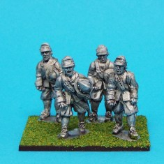 28mm english civil war Unarmoured Pikemen Marching Montero Cap