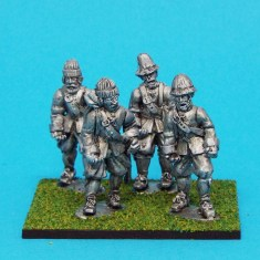 28mm english civil war Unarmoured Pikemen Marching Monmouth Cap