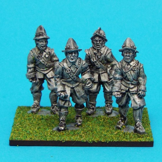 28mm english civil war Armoured Pikemen wearing morian helmet