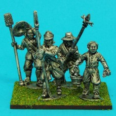 28mm english civil war artillery crew
