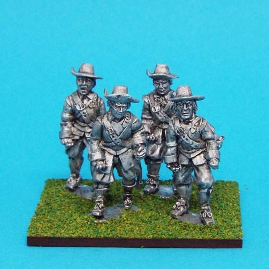 28mm english civil war armoured pikemen wearing brimmed hats