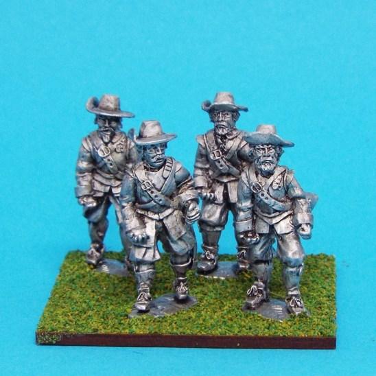 28mm english civil war armoured pikemen wearing brimmed hat