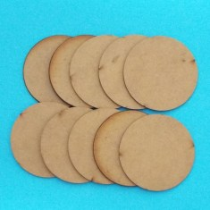 50mm mdf round bases