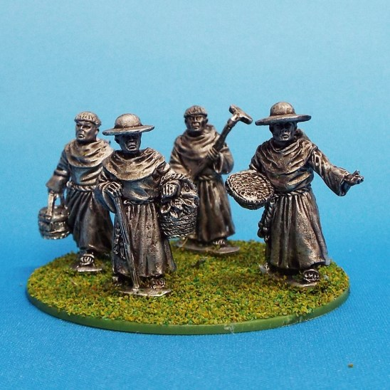 28mm medieval monks