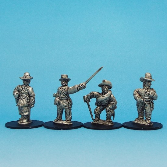 28mm ACW Officers in Slouch Hat