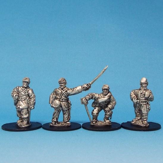 28mm american civil war officers in kepi or forage cap