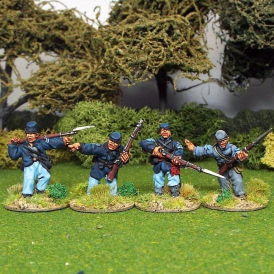 28mm american civil war acw nco's in kepi