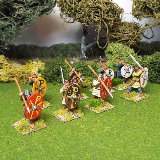 28mm saga pedyt warriors attacking
