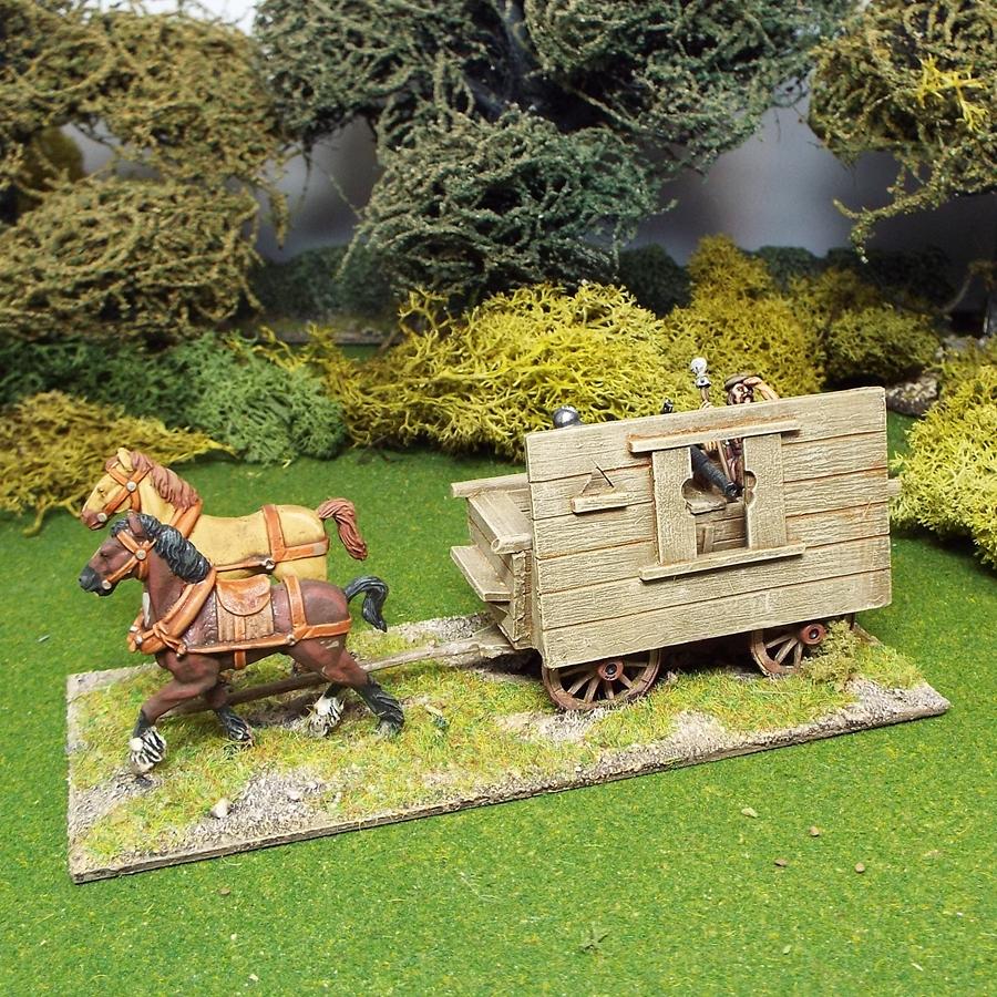 28mm medieval hussite war wagon