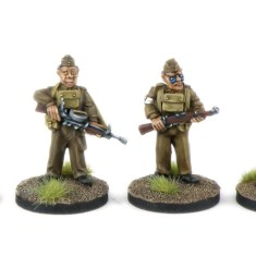 HF05 Home Guard with Vickers k and Lewis Machine guns