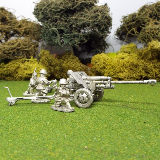 1/48 28mm Zis3 field Gun 4 crew front left