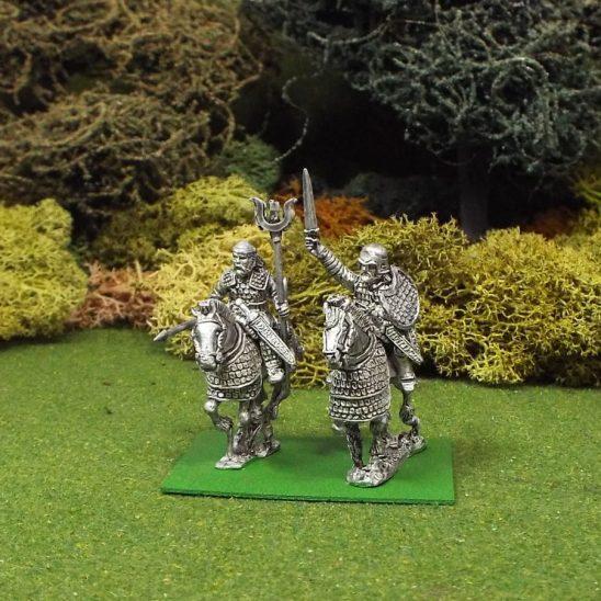 28mm Scythian Mounted General and Standard Bearer,