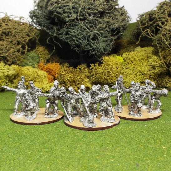 28mm American Civil War Artillery Crew wearing Kepi