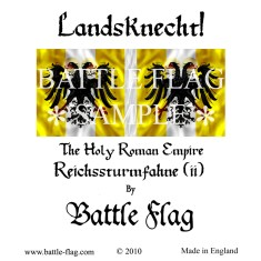 28mm Reichsturmfahne of the Holy Roman Empire (Variant) Landsknecht Renaissance Wargame Banners and Flags