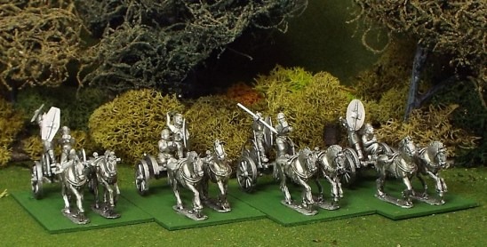 28mm Celtic 2 Horse Chariot