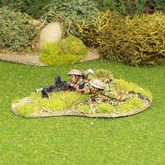 BEF Bren Gun Team Prone with Helmet Covers.