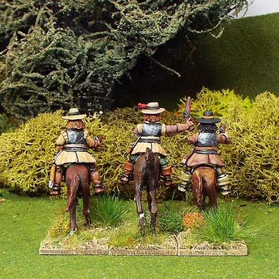 Armoured Troopers with Pistols, Brimmed Hat, Galloping Horses.