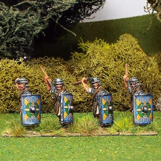 Legionaries attacking with Pilum.