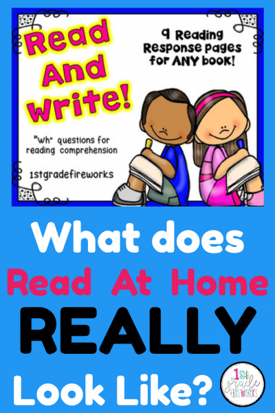 Do they REALLY Read At Home for 20 minutes EVERY DAY? How to support Reading At Home. Reading Response pages, organization, and tips & tricks to make it EASY!  #reading #literacy #writing #readathome #familyfirst