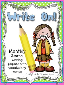 Journal pages for vocabulary practice
