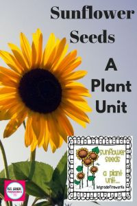 Teach your students about seeds with SUNFLOWER SEEDS A Plant Unit