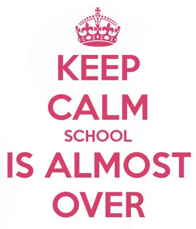 The end of the school year is almost here!