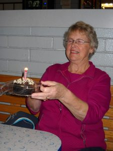 Mom at her birthday party.