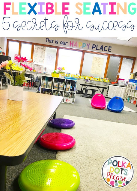 Polka Dots please flexible seating blog post.