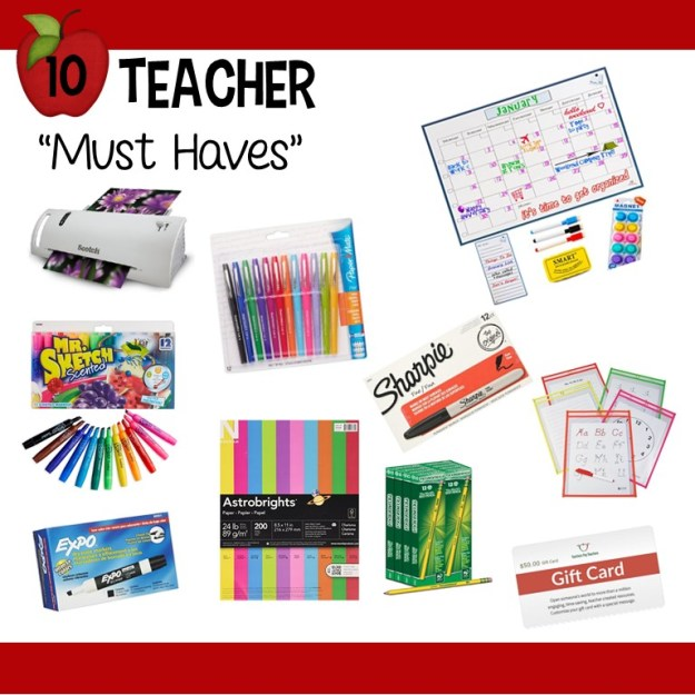 Teacher Appreciation Giveaway 10 must haves