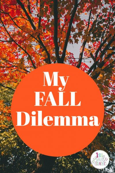 My Fall Dilemma. What to teach in OCTOBER? Do I teach seasons? Do I teach Halloween? What should I do? Find out how! #fall #october #halloween #Classroom