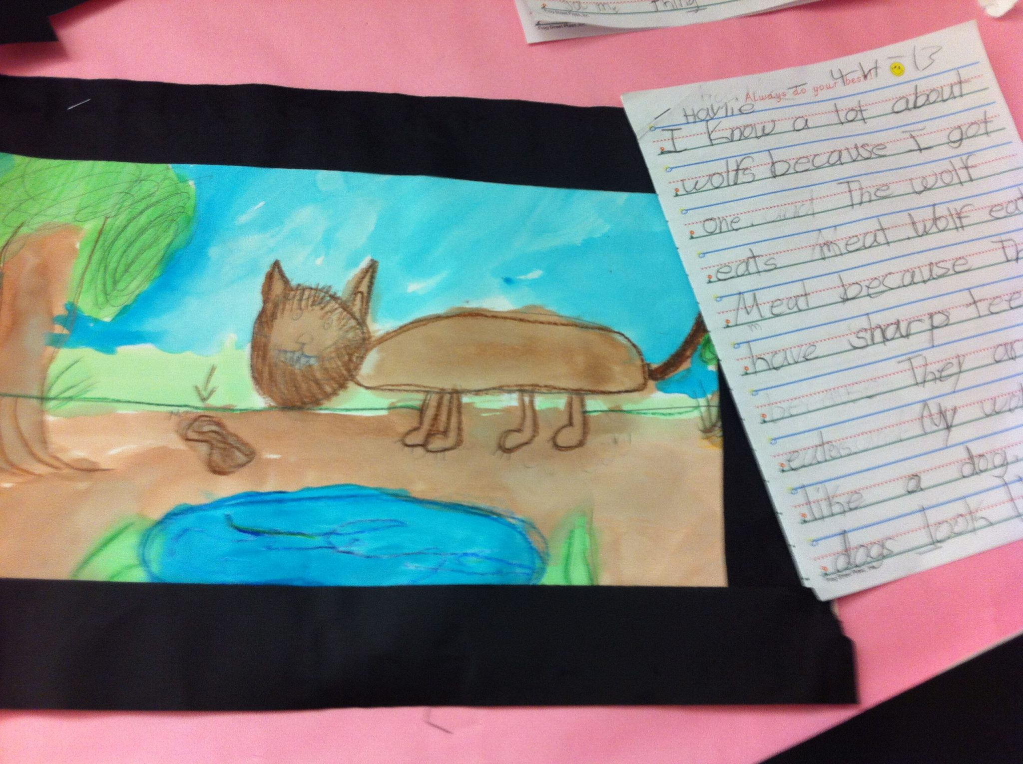 After our animal reports, we painted!