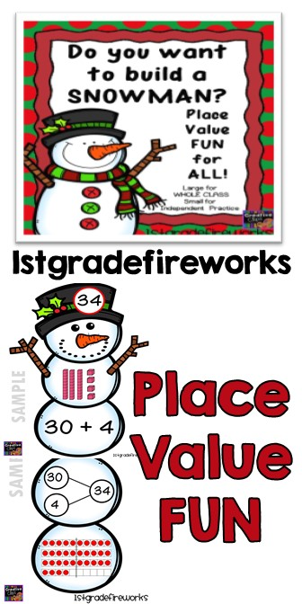 WINTER Place Value Snowman