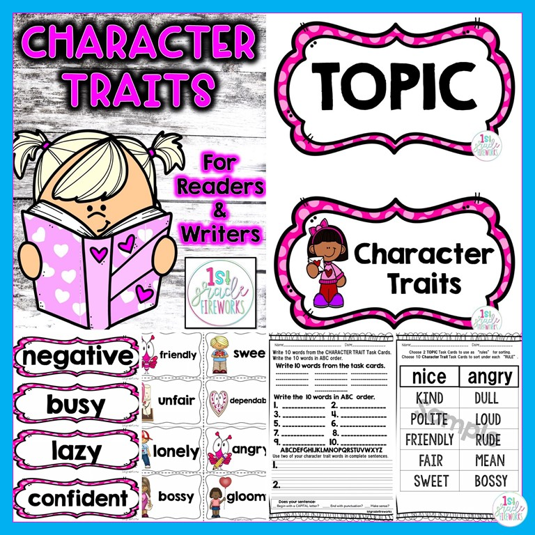 Help YOUR students interact with story characters through CHARACTER TRAITS FOR READERS AND WRITERS
