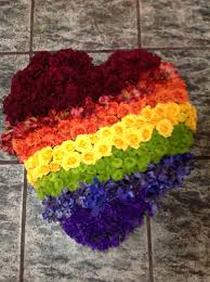 A rainbow of flowers. From: How to Keep Growing a Rainbow in YOUR classroom. Planting Seeds of Knowledge.
