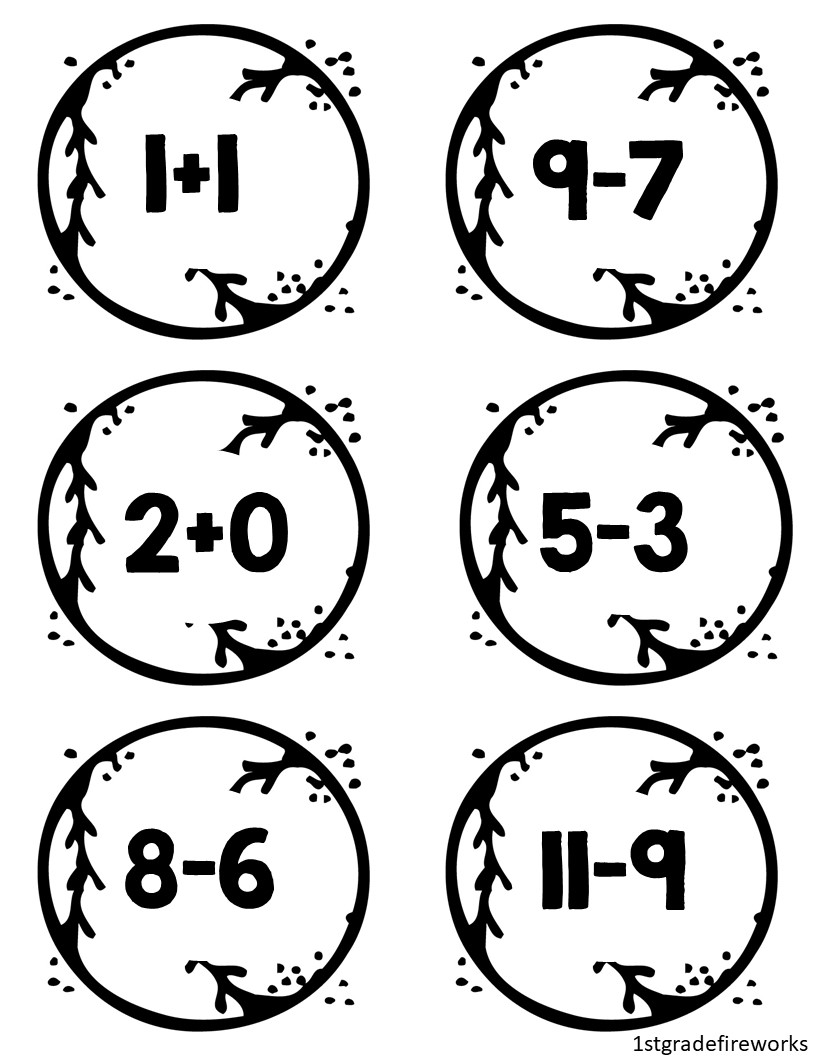 Math Facts Baseballs