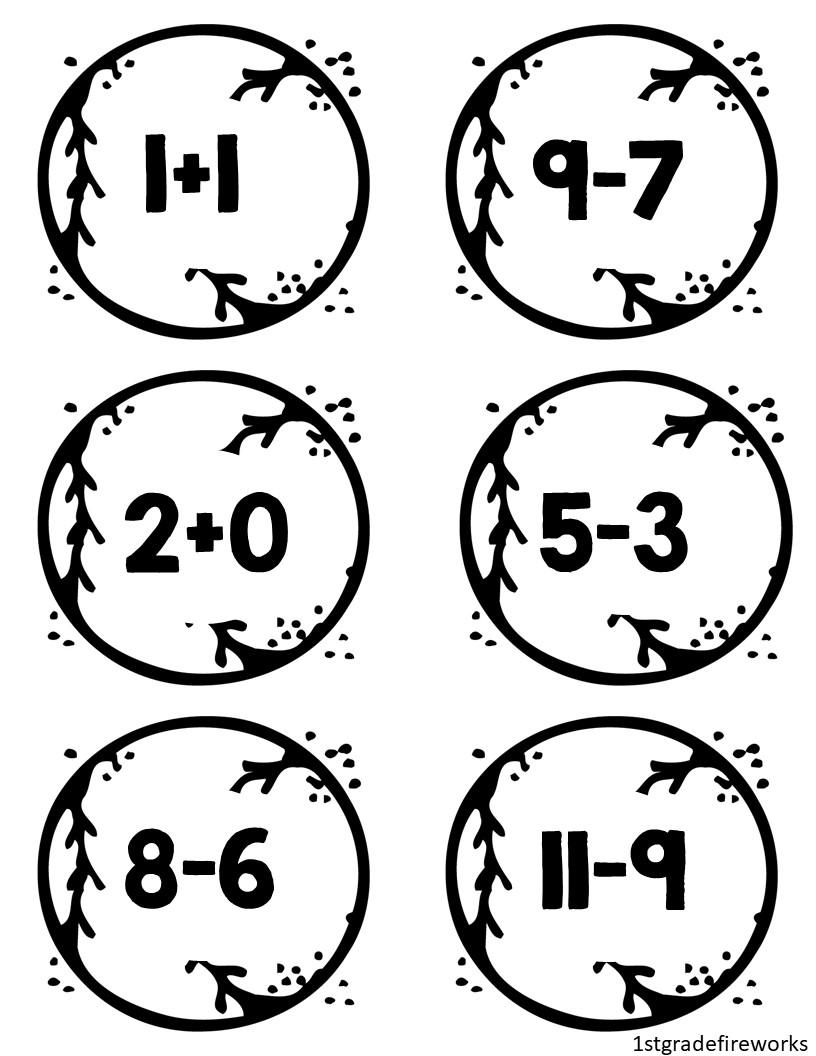Math Facts Baseballs