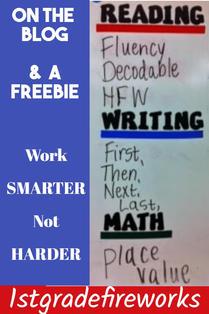 On the Blog...Work Smarter not Harder