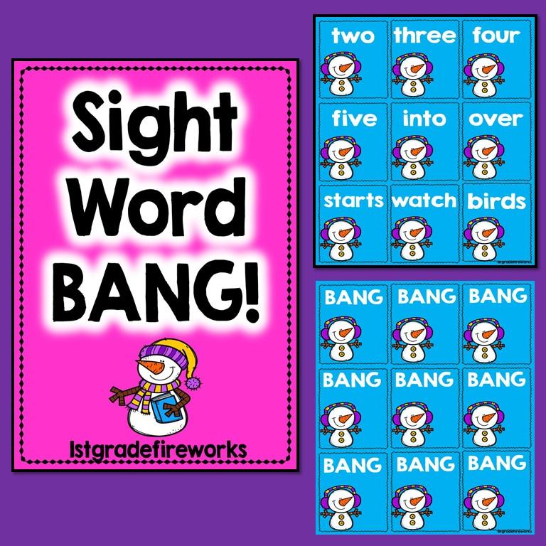 When Snowmen Go To School Sight Word GAME