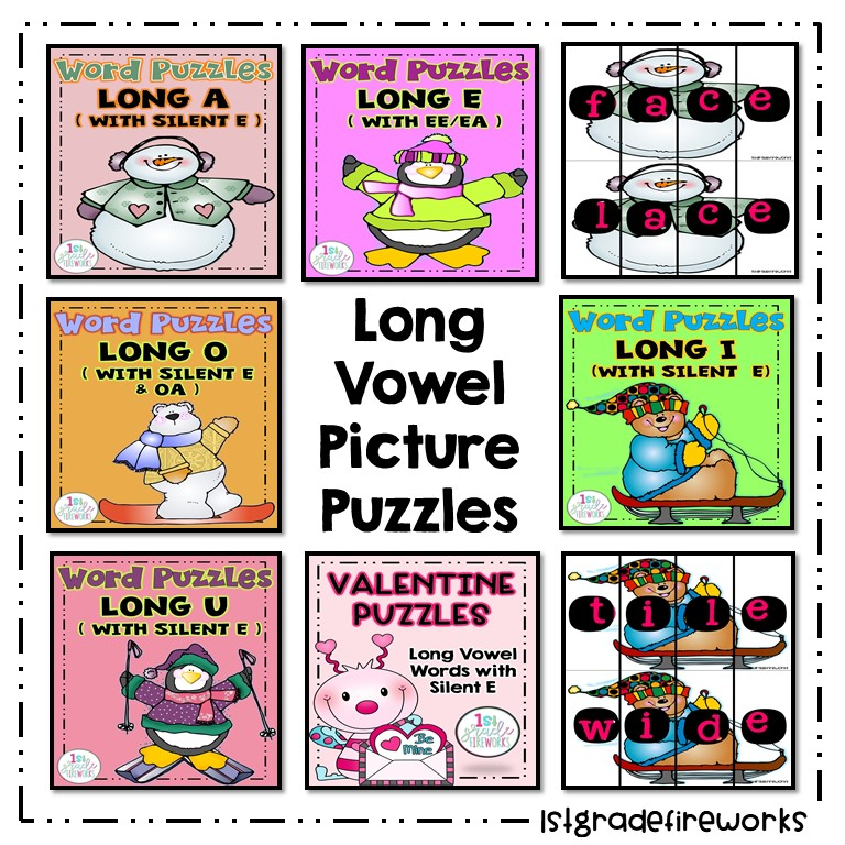 Long Vowel Picture Puzzles