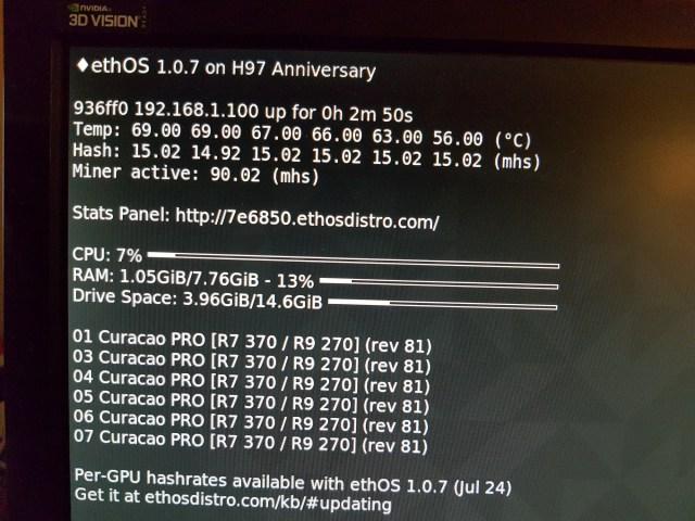 Asus Strix AMD Radeon R7 370 4GB Maximum Hashrate 3