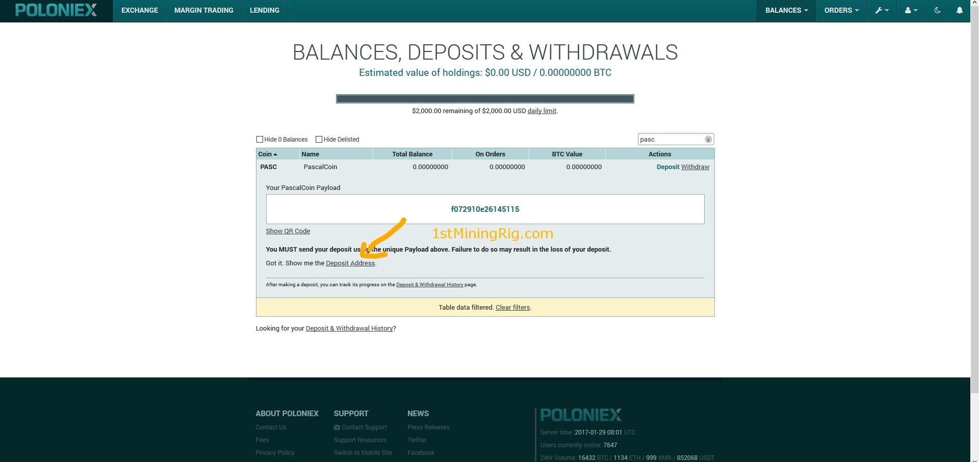 poloniex wallet