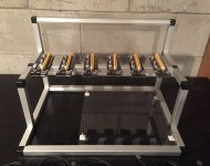 GPU Mining Rig Open Air Frame Case with 6 USB Risers Review 1