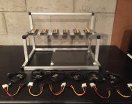 GPU Mining Rig Open Air Frame Case with 6 USB Risers Review 2