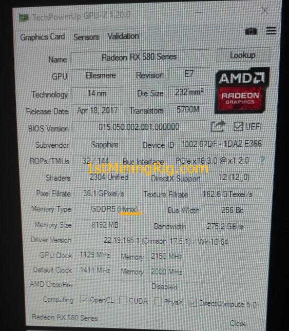 Best BIOS ROM for Sapphire Nitro+ RX 580 8GB OC Hynix Memory